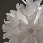 "Pale Blossom  blown glass, assembled  16"" x 16"" x 16""  Collection of Celebrity Equinox"